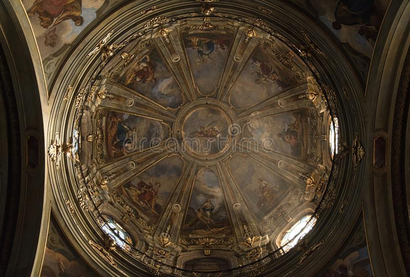 Fossano Cathedral - Cuneo Italy. Fossano Cathedral Dome - Cuneo Italy royalty free stock photos