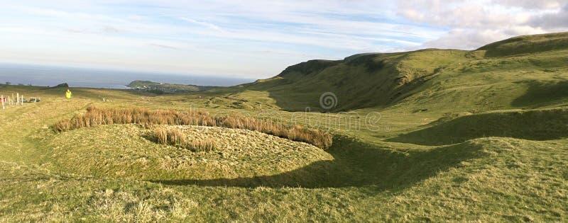 Fossati Cairncastle di Knockdhu fotografia stock libera da diritti