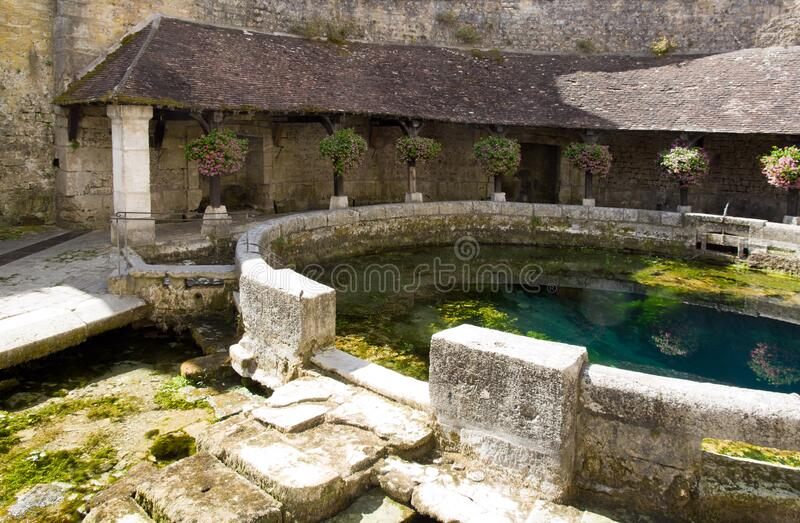 Fosse Dionne in Tonnerre Yonne Bourgogne France. stock photo