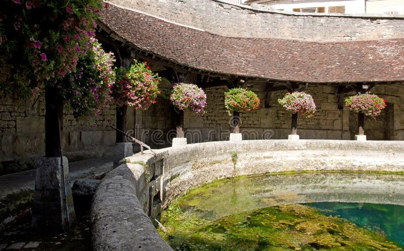 Fosse Dionne in Tonnerre Yonne Bourgogne France. royalty free stock image