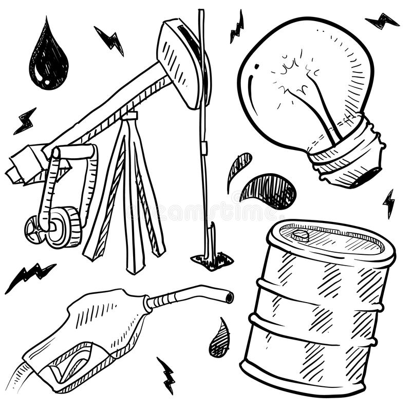 Download Fossil Fuels Objects Sketch Royalty Free Stock Photos - Image: 23077338