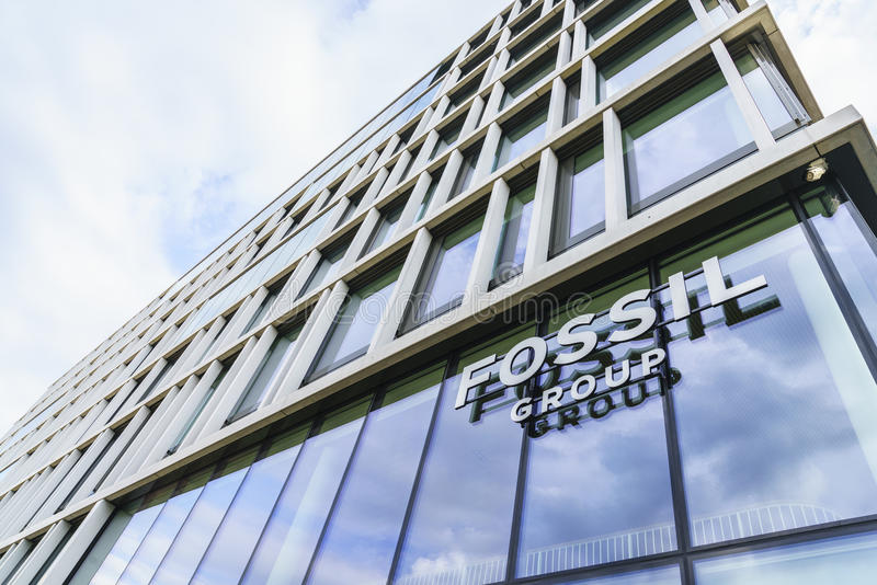 Fossil Group Europe. Very high resolution, 42.2 megapixels. Fossil Group Europe GmbH à Basel, Switzerland. Fossil is an American watch and lifestyle company royalty free stock images