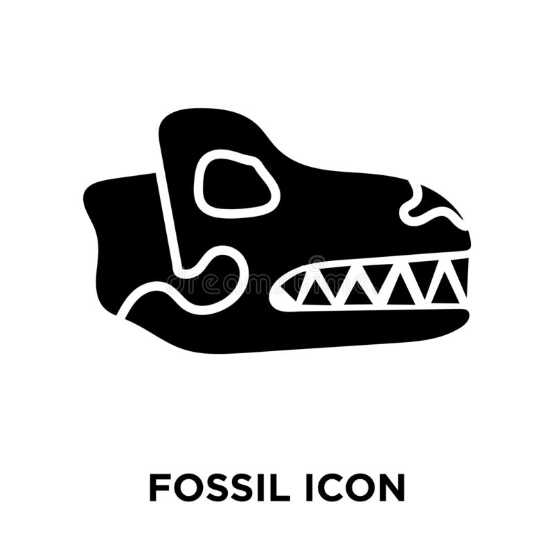 Fossil icon vector isolated on white background, logo concept of royalty free illustration