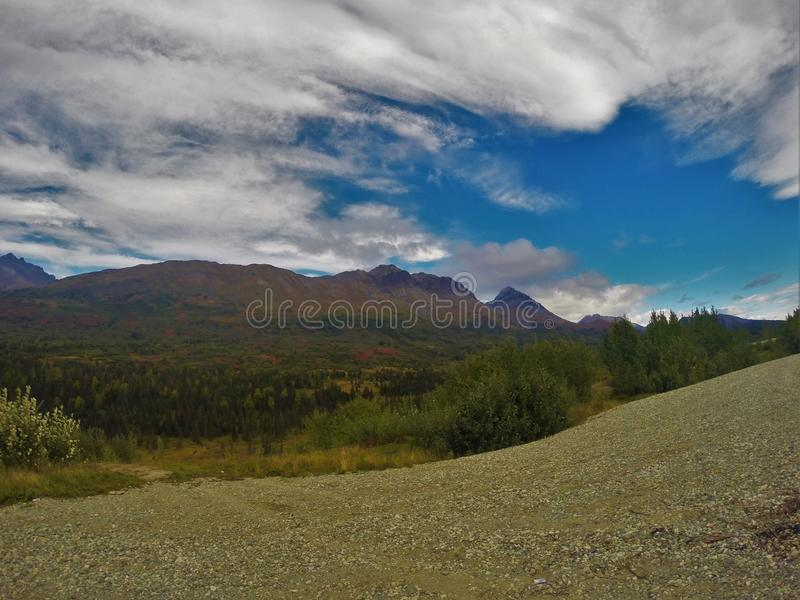 Fossil mountains royalty free stock photography