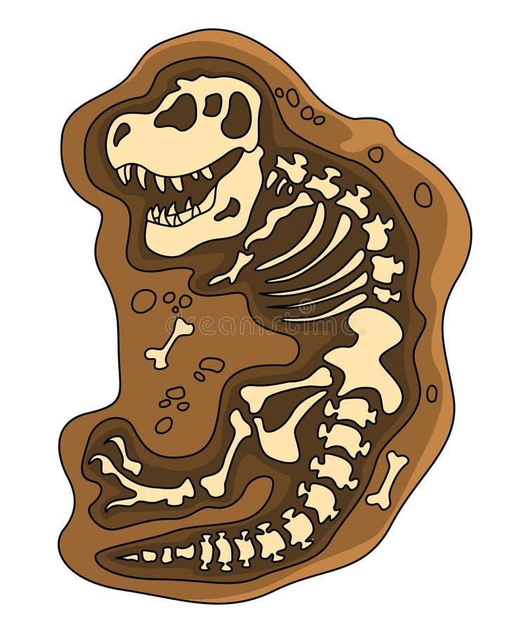 Fossile di dinosauri illustrazione di stock