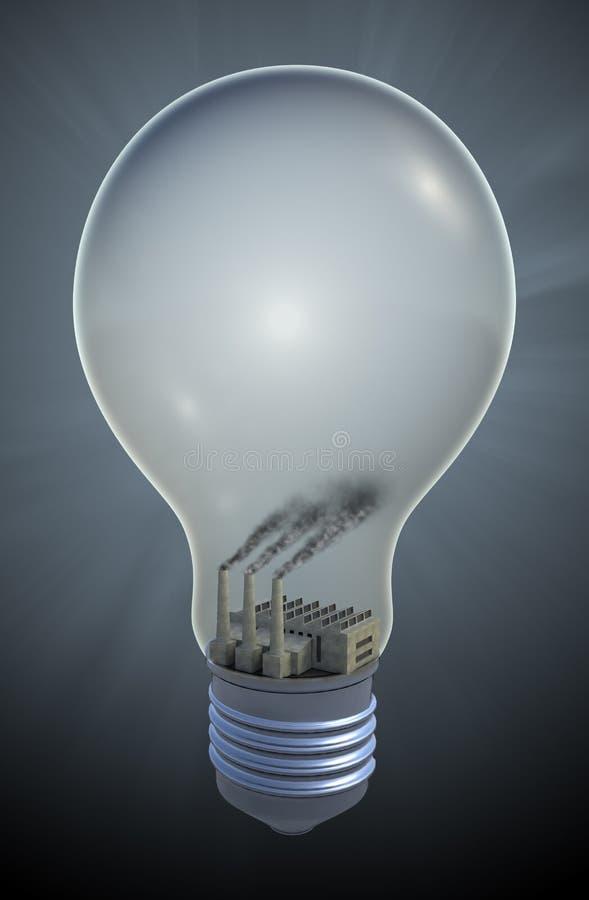 Fossile a energia di combustione illustrazione di stock