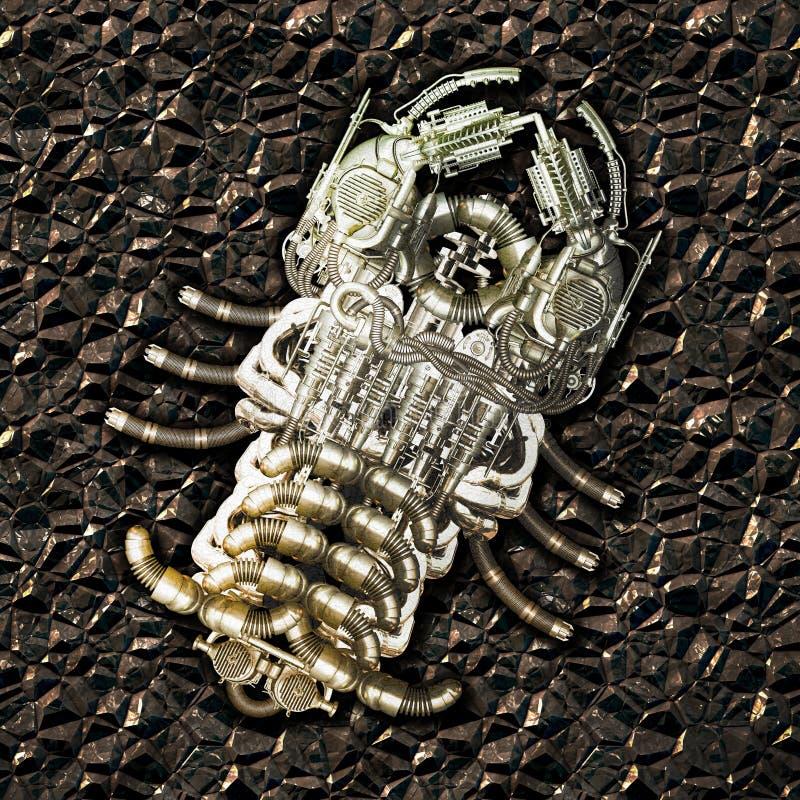 Fossile mécanique illustration de vecteur