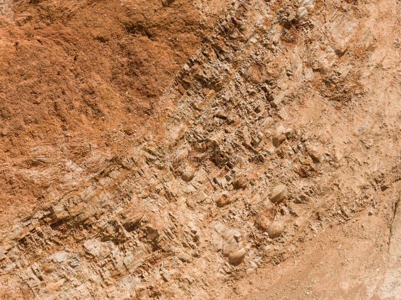 Fossiles dans les Andes de Huancayo, Pérou images libres de droits