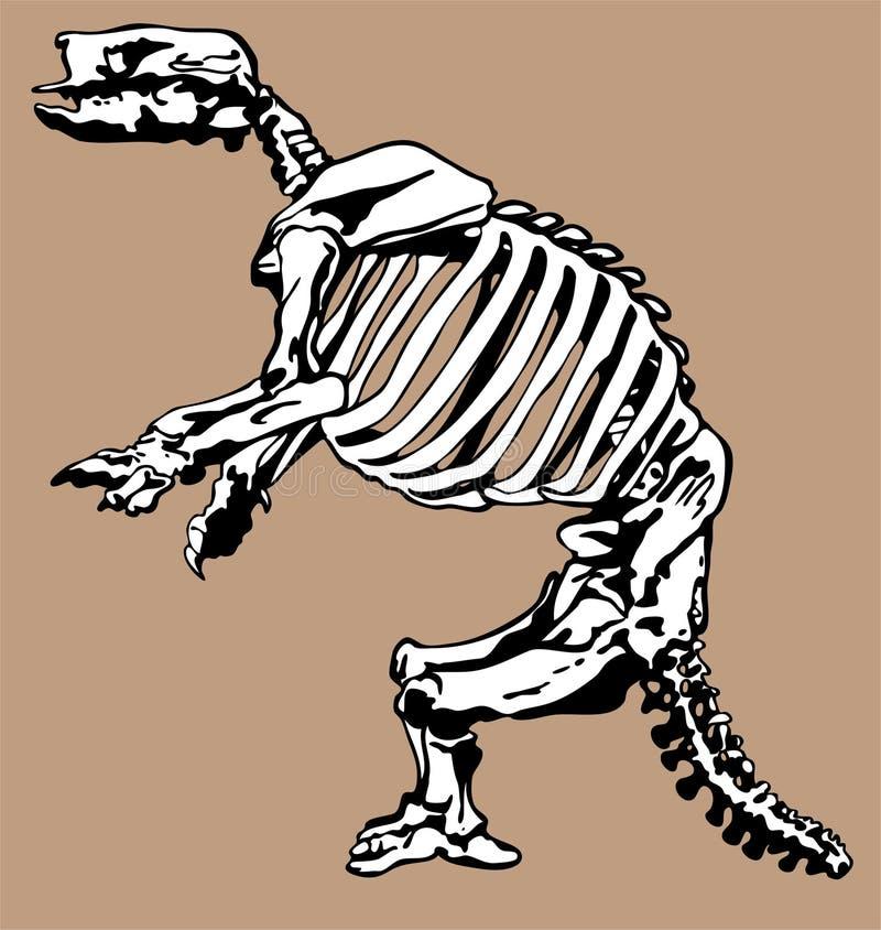 Fossiles et os de dinosaur illustration libre de droits