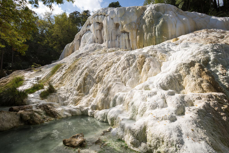 Fosso Bianco Hot Springs In Bagni San Filippo Stock Image - Image ...
