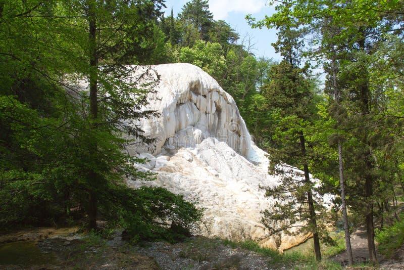 Fosso Bianco Hot Springs en Bagni San Filippo photos libres de droits