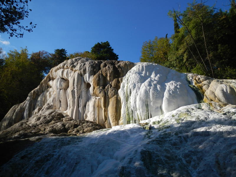 Fosso Bianco près de Bagni di San Filippo image libre de droits
