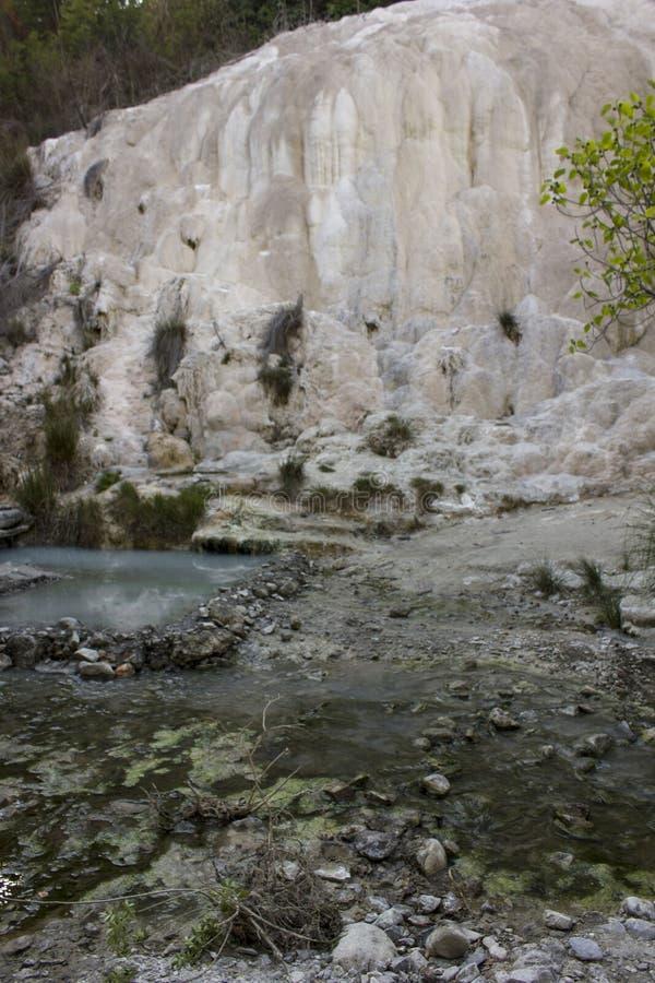 Fosso Bianco rockowa formacja w Tuscany fotografia stock