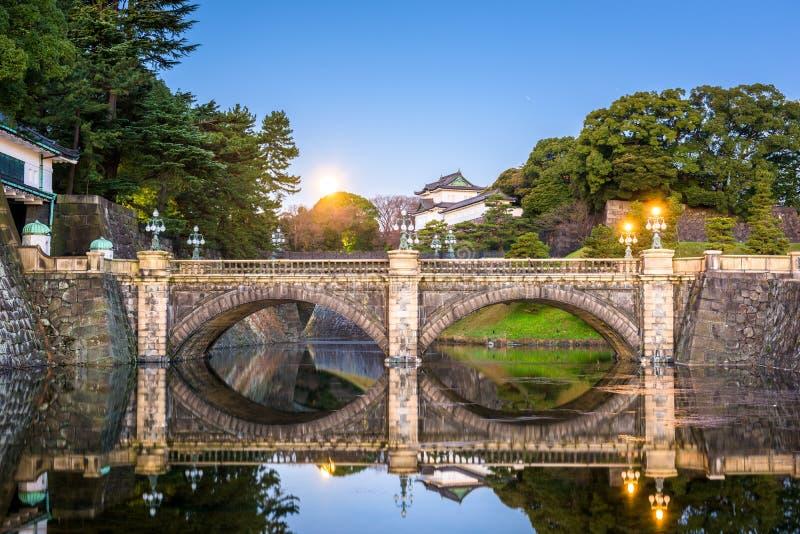 Fosso imperial do palácio do Tóquio fotografia de stock