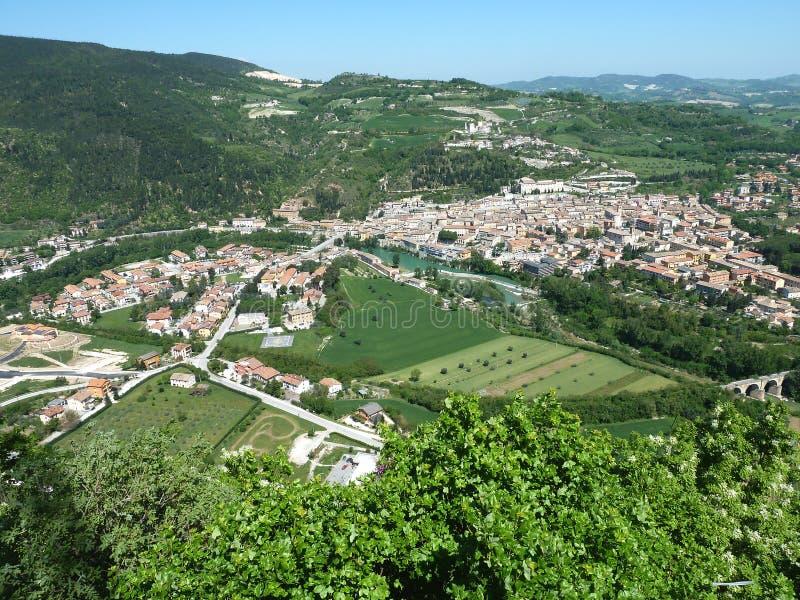 Fossombrone - Le Marche - Italië stock foto