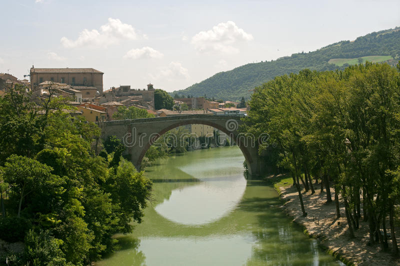 Download Fossombrone (Marches, Italy) - Bridge And River Stock Image - Image: 20967905