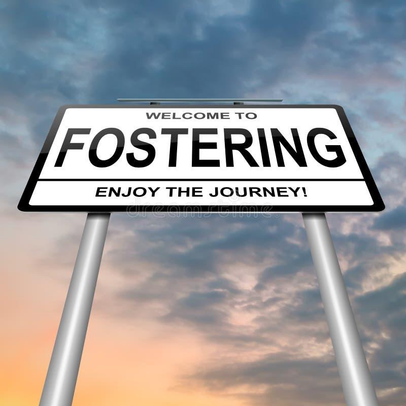 Fostering concept. vector illustration