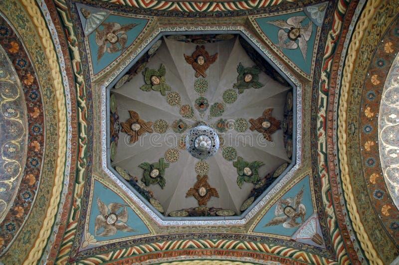 Fostra domkyrkan av heliga Etchmiadzin, Armenien arkivbild