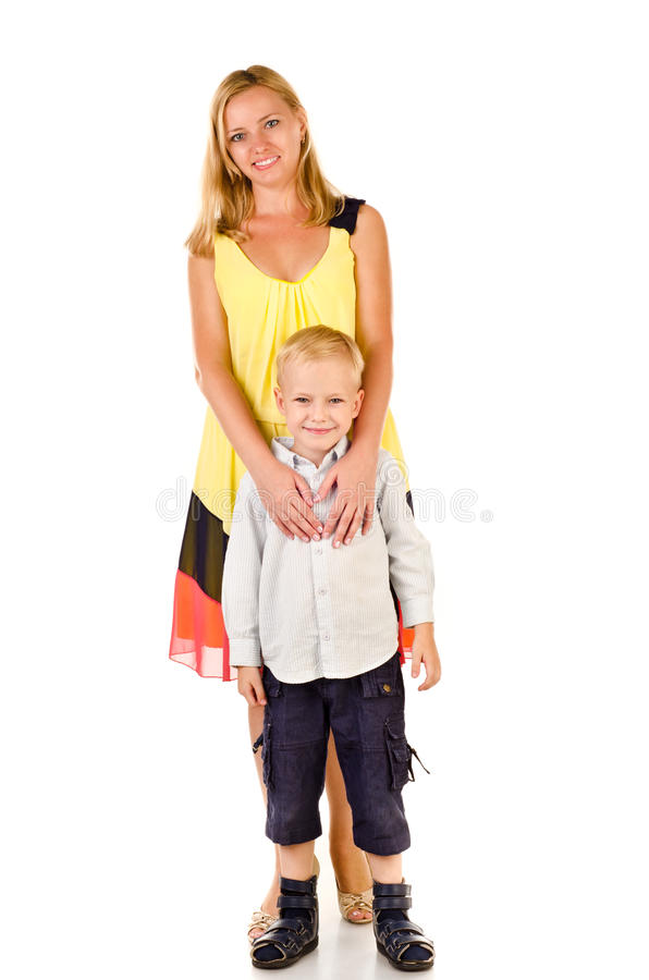 Fostra och barnet arkivbild