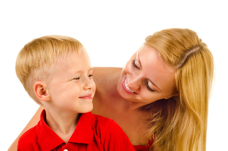 Fostra och barnet royaltyfri foto