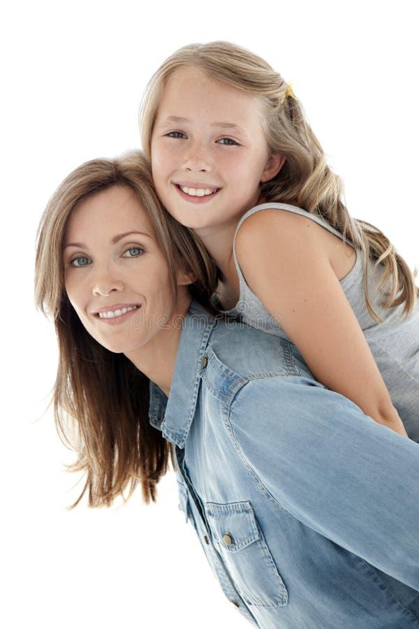 Fostra och dottern royaltyfria bilder
