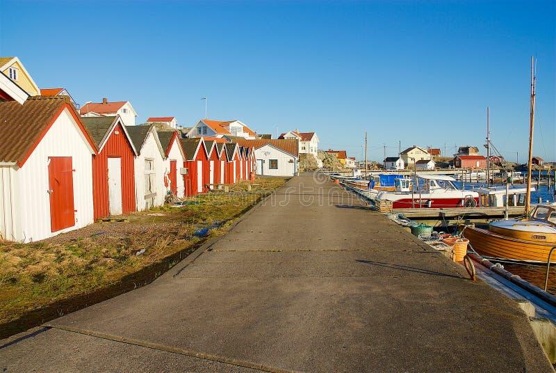 Fotö na costa oeste na Suécia foto de stock