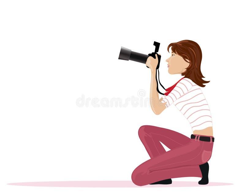 Fotógrafo ilustração do vetor