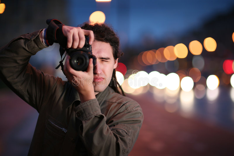 Fotógrafo fotos de archivo