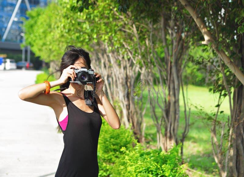 Fotógrafo amador imagem de stock