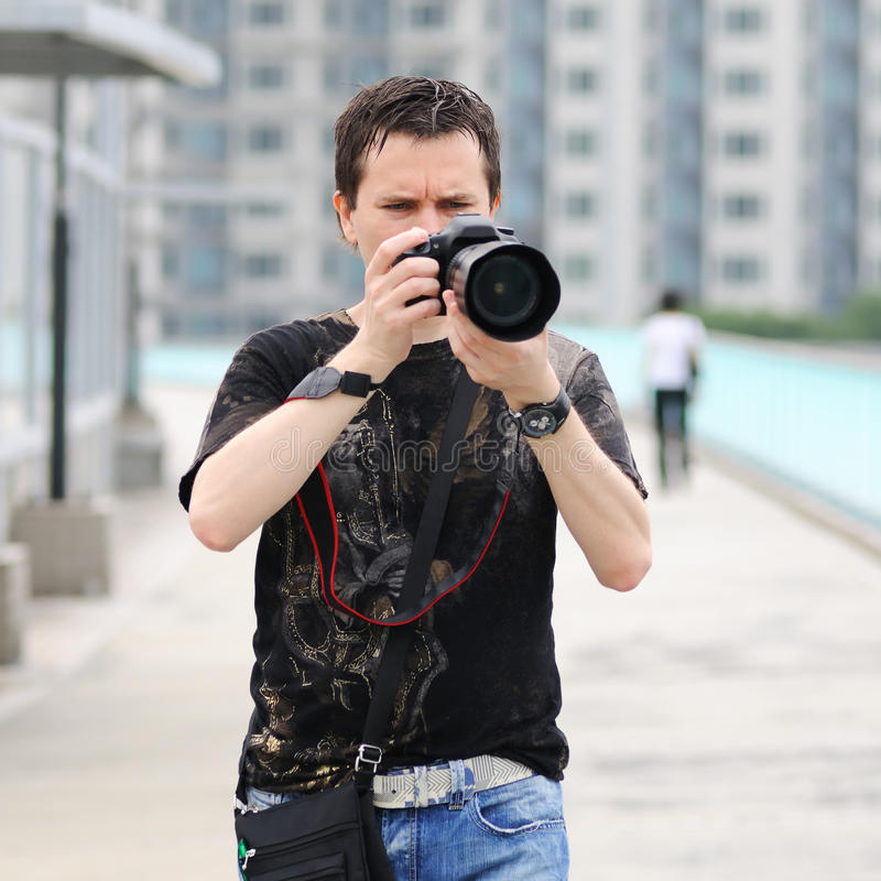 Fotógrafo amador. foto de stock royalty free