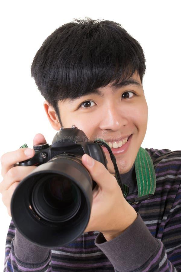 Fotógrafo amador novo imagens de stock royalty free