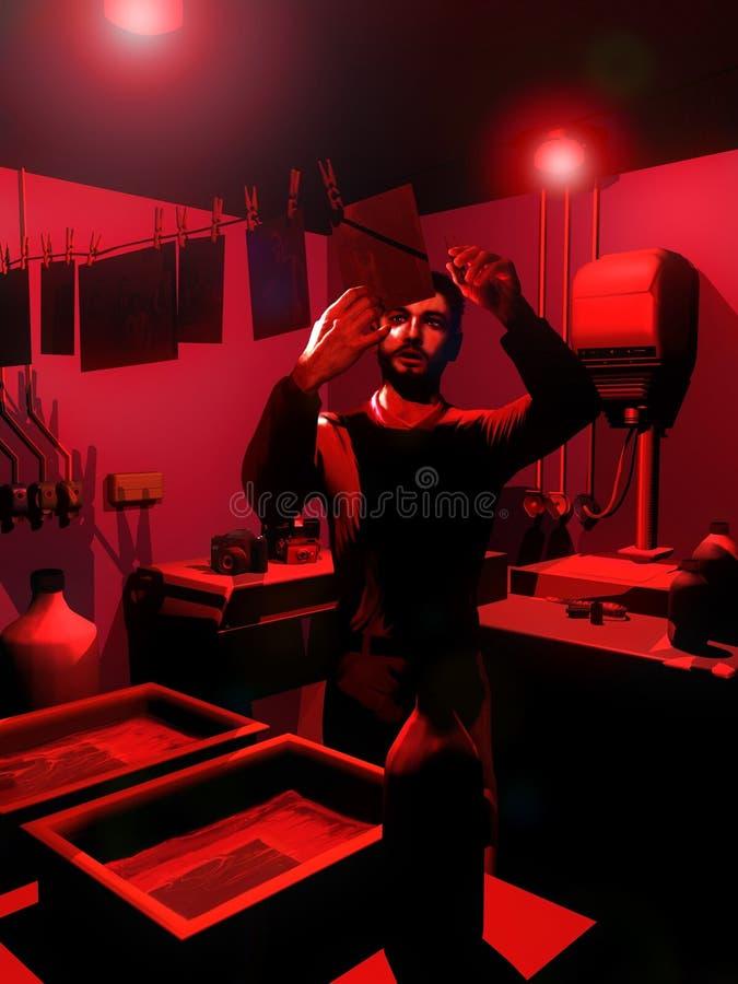 Fotógrafo análogo stock de ilustración