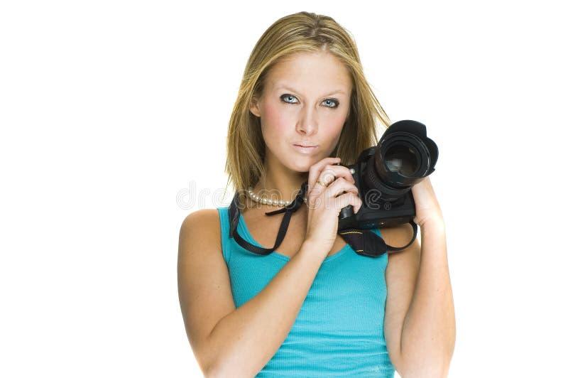 Fotógrafo atractivo fotografía de archivo