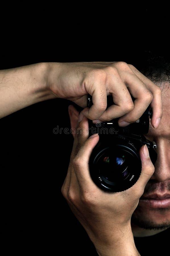 Fotógrafo com câmera foto de stock royalty free