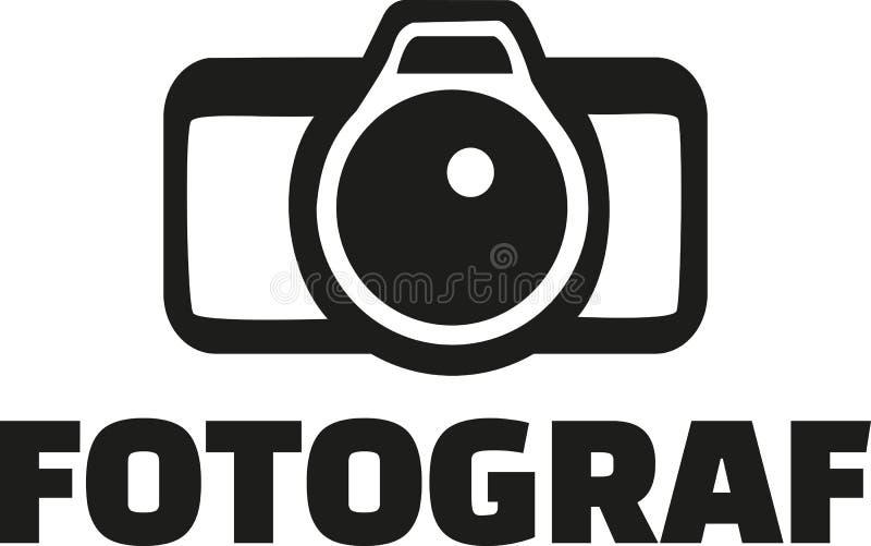 Fotógrafo com câmera - alemão ilustração do vetor