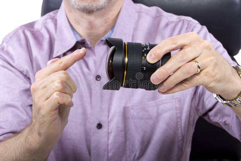 Fotógrafo com equipamento imagens de stock