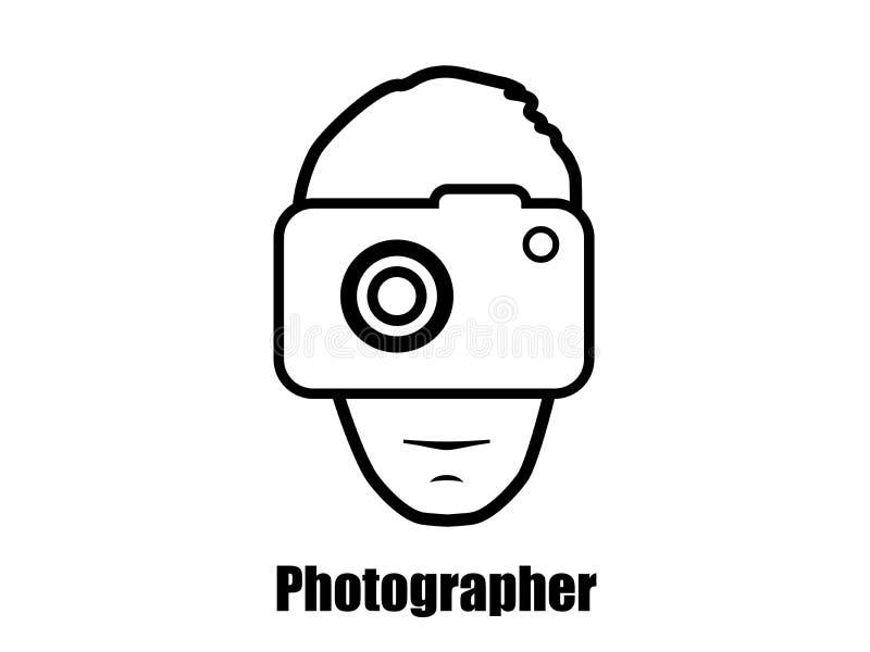 Fotógrafo com um ícone da câmera Vetor ilustração royalty free
