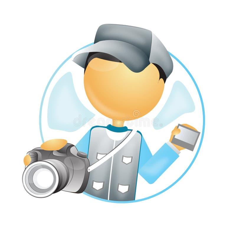 Fotógrafo con la cámara libre illustration