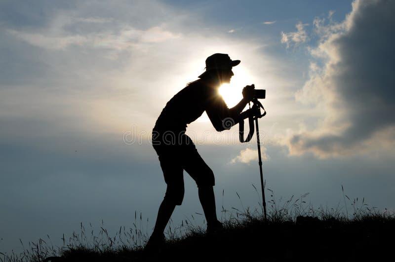 Fotógrafo da mulher imagem de stock royalty free