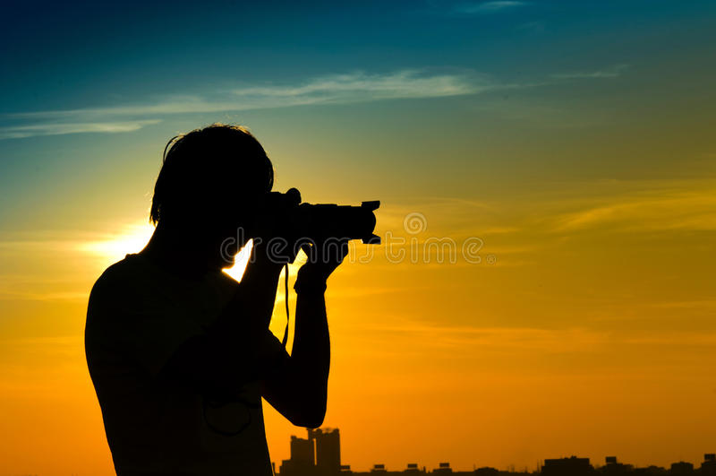 Fotógrafo da paisagem imagem de stock royalty free