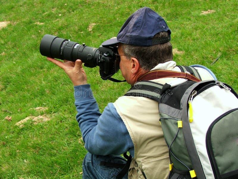 Fotógrafo da paisagem imagens de stock royalty free