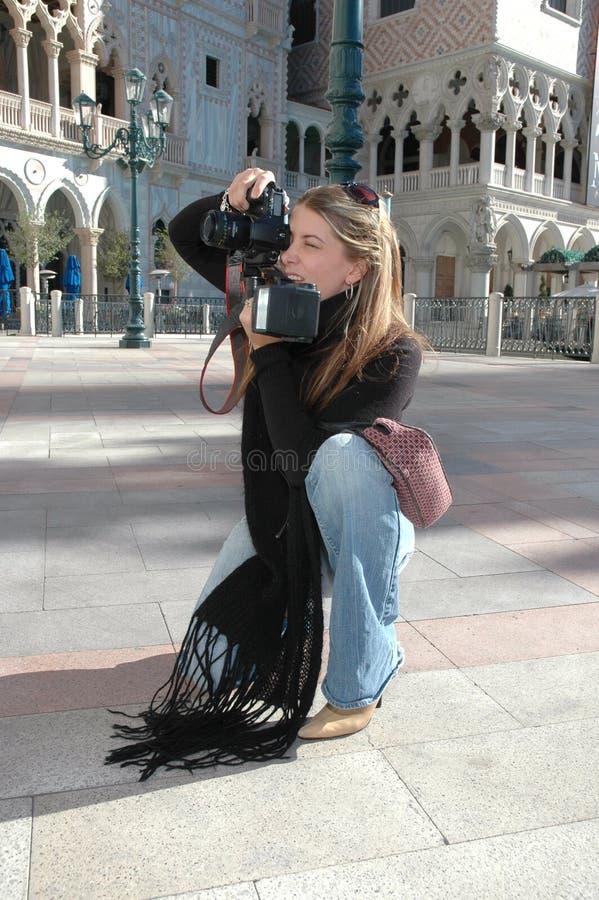 Fotógrafo de la mujer fotos de archivo