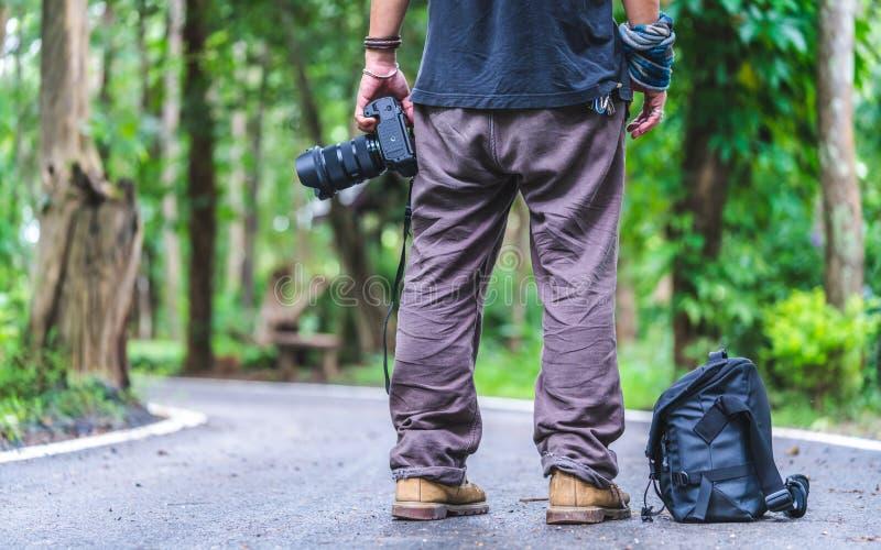 Fotógrafo With de la naturaleza una visión natural imagenes de archivo