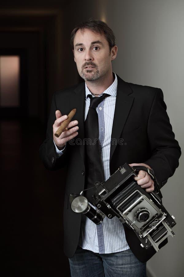 Fotógrafo de la vendimia fotografía de archivo libre de regalías