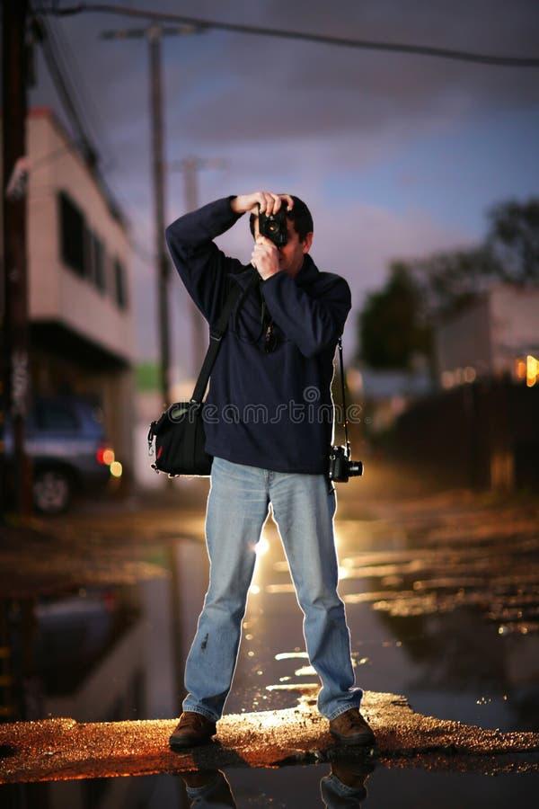 Fotógrafo de rua fotografia de stock