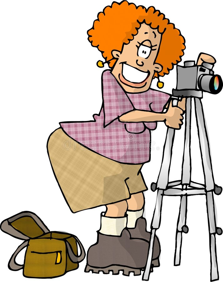 Fotógrafo de sexo femenino ilustración del vector