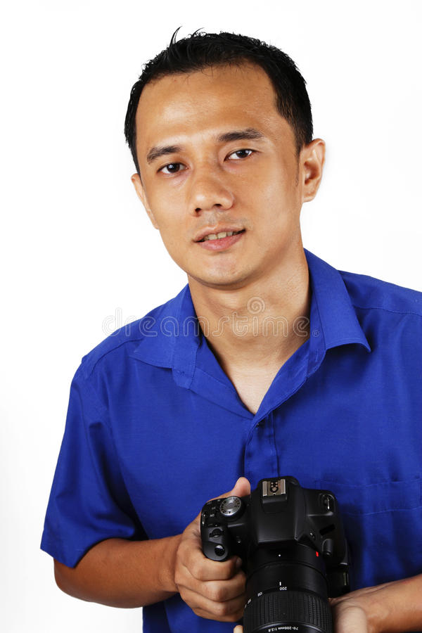Fotógrafo de sexo masculino fotografía de archivo