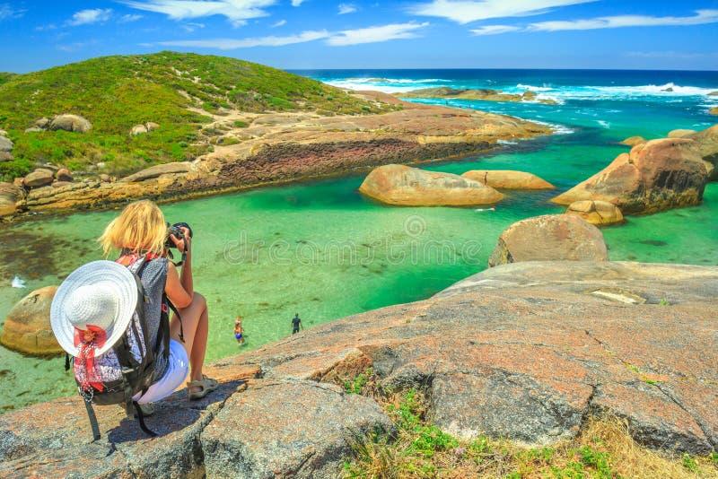 Fotógrafo del viaje en Australia fotos de archivo libres de regalías