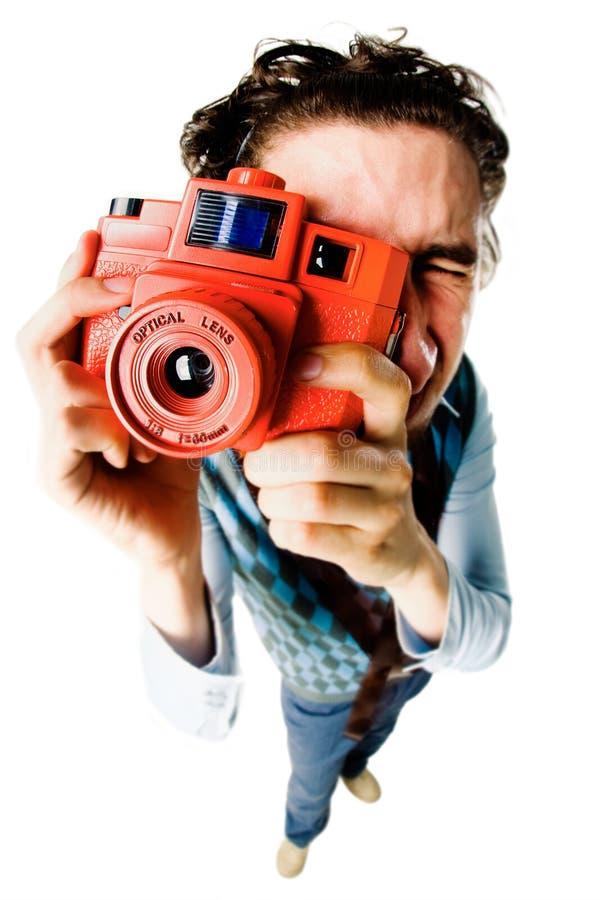 Fotógrafo divertido foto de archivo libre de regalías