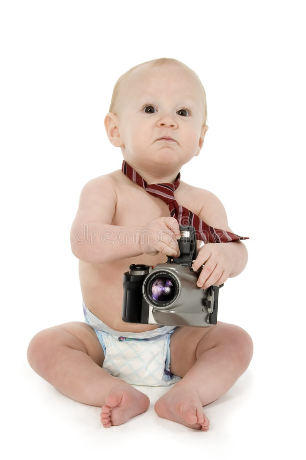 Fotógrafo do bebê foto de stock royalty free